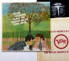 OSCAR PETERSON plays The Harold Arlen Song Book LP Verve Jazz Piano  #1703