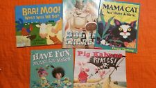 Picture Bks (Lot 5 PB) Pig Kahuna Pirates, Mama Cat Has Three Kittens, Molly Lou