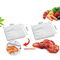 100Pcs Food Storage Bags Embossed Vacuum Sealer Packaging Pouches Clear Saver
