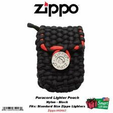 Zippo Nylon Paracord Lighter Pouch w/ Belt Loop, Black, 5mm Rope #40467