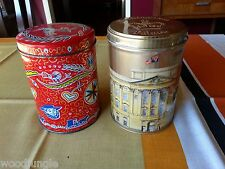 2 CANDY TINS VINTAGE DUTCH CANDIES BUCKINGHAM PALACE ENGLAND BOX CONTAINER