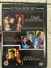 Sarah Michelle Gellar Reese Witherspoon CRUEL INTENTIONS Trilogia 1-2-3 UK DVD