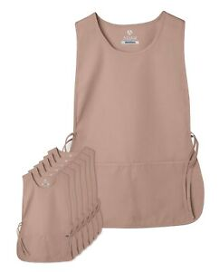 Adar Women's 6 Pack Cobbler Bib Apron Adjustable 2 Sides Ties Front Pockets