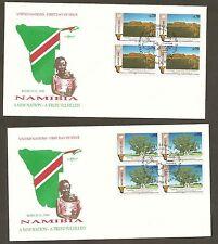 UN Geneva #199-200 Namibia (2) Artmaster B4FDCs