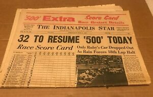1967 Indianapolis 500 Star Newspaper S1