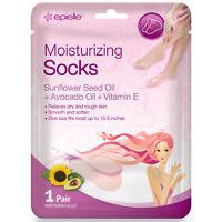 Epielle Moisturizing Socks Sunflower Seed Oil + Avocado Oil + Vitamin E, 1 pair