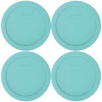 Pyrex 7201-PC 4 Cup Jade Dust Green Food Storage Replacement Lid (4-Pack)