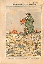 Caricature Berger Caillaux Franc-Maçon Défense Laïque Moutons 1913 ILLUSTRATION