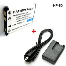 Battery + Charger for Fujifilm FinePix JX530 JX550 JX580 JX590 JX700 JX710 JZ100