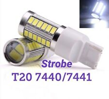 Strobe T20 7440 w21w 12V 33SMD White LED Rear Signal M1 For Buick Cadillac MAR