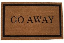 Home Go Away Coir Doormat Outdoor Indoor Standard Welcome Mat Front Door Mat NEW