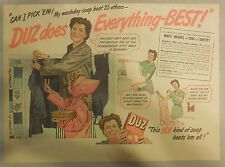 DUZ Detergent Ad: DUZ Does Everything Best !: DUZ Ad from 1940's