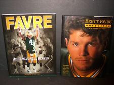BRETT FAVRE    2 BOOKS  BRETT FARVE UNCOVERED / MOST VALUABLE  PLAYER