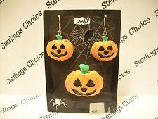 and Pin Set Jack-O-Lantern Pumpkin Earrings