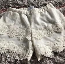 Mayoral Girls Cream Lace Shorts 8yrs ❤️