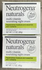 Neutrogena Naturals Multi-Vitamin Nourishing Night Cream 1.7 oz Set Of 2