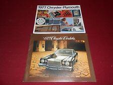 1977 CHRYSLER CORDOBA SALES BROCHURE + 20 p CHRYSLER PLYMOUTH FULL-LINE CATALOG