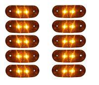 10x 12V Orange Begrenzungsleuchte 2 LED Umrissleuchte E-Prüf Positionsleuchte