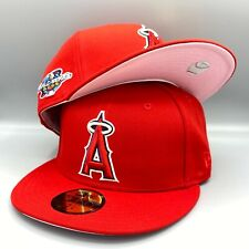 Los Angeles Angels 2002 World Series 59FIFTY New Era Fitted Cap Pink Botton