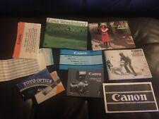 Original Canon Ae-1 Program Camera Instruction Book And Other Books