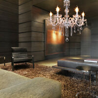 Modern Chandelier Crystal Pendant 6 Candle Lamp Ceiling Light Fixture Lighting