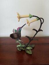 Franklin Mint Porcelain porcelain and bronze hummingbird figurine