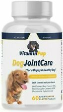 Dog Hip & Joint Care Glucosamine Chondroitin Turmeric MSM  Pet Supplement 60Ct