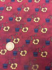 Henry verre-patchwork/quilting tissu-fleurs & étoiles - 100% coton
