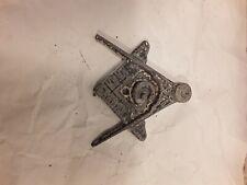 Vintage Freemason Masonic License Plate Topper Hard to Find