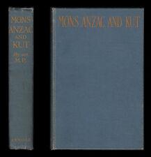 1919 Aubrey Herbert Mons ANZAC und Kut Dardanellen Türkei suvla Bay Mesopotamien