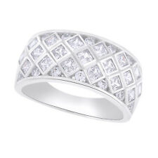EPIPHANY Platinum Clad Diamonique Tension Set Wide Band Ring SOLD OUT QVC
