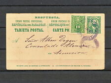 NNBI 082 PARAGUAY STATIONERY POSTAL CARD 1911