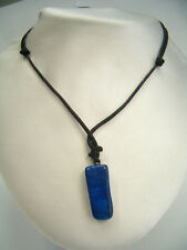 Ciondolo in Sodalite naturale di colore blu - pendente pietra dura con girocollo