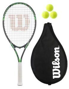 Wilson Tour Slam Green Tennis Racket + Cover + 3 Balls RRP £60