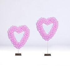 SALE WEDDING SHOP DISPLAY HOTEL 2 x Heart Balloon Frames . 90cm & 15cm poles