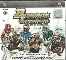2012 Bowman Signature Factory Sealed Football Hobby Box  Andrew Luck  RC ??