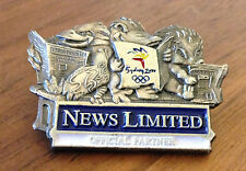 News Limited Mascots Reading Newspaper Sydney 2000 Olympic Media Pin