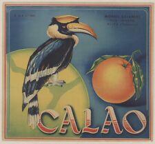 """""""CALAO"""" Affiche d'intérieur originale entoilée Chromo-litho vers 1930  31x29cm"""