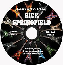 Rick Springfield Guitar TABS 14 Songs! Lesson CD with Backing Tracks!
