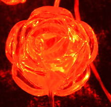 20 LED Fairy Craft Lights Battery Operated Rose Decoration White and Red
