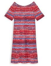 Tory Burch COTTON T-SHIRT DRESS 12152415 BRILLIANT RED MOULINE