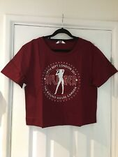 BNWT Tommy Hilfiger Gigi Hadid The Round House Cropped Tshirt Deep Red XS Top