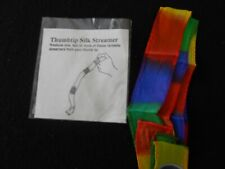 Thumb Tip Streamer 1x 36 inch New - colorful close-up magic -