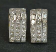 VS 5.00cts Diamond 18ct Gold Ladies Cluster Earrings D1858