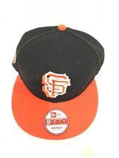 New Era San Francisco Giants Orange Crown Black 9FIFTY Adjustable Snapback  Hat 43fbe9a38ebb