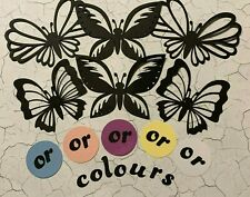 Butterflies large silhouette you choose the colour set of 6 die cuts