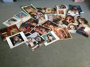 ANTIQUE DOLL PHOTO ASSORTMENT FROM 1980s CALENDARS.