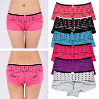 1 / 5 Pcs Womens Boxers Dots Cute Panties Cotton Underwear Intimates M-XL H419