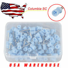 100 PC Dental Prophy Cup Rubber Polish Brush Polishing Tooth Latch Firm Blue
