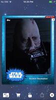 Topps Star Wars Digital Card Trader Blue Steel Anakin Skywalker Base 4 Variant